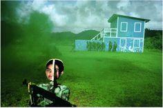 Alex Webb_Addestramento dell'esercito americano nella giungla, Panama 1999