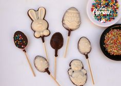 Lollipops Páscoa Lollipops, Cake, Desserts, Food, Tootsie Pops, Tailgate Desserts, Deserts, Stick Candy, Kuchen
