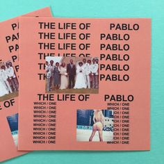 A set of 3 The Life of Pablo stickers.  Stickers measure approx. 2 in size