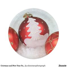 """Cristmas and New Year Paper Plates 7"""" 7 Inch Paper Plate #Paper #Plate by #alexiotzovphotograph on Zazzle/alexiotzovphotograph"""