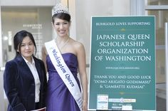 Trinh My Ly (e-Commerce Manager at http://www.bux4gold.com/) represented Bux4Gold at the Japanese Queen event and met with the 2011 Washington Queen, Rica Mackert. — at Meydenbauer Center.