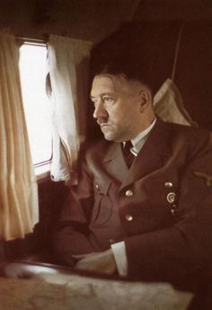 Hitler in his plane. Date unknown. Photo  by Walter Frentz.