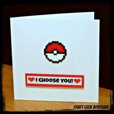 Pokemon Poke Ball Hama Perler Bead 'I Choose by CraftGeekBoutique, £3.00