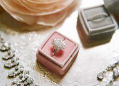 Vintage pear shaped ring: http://www.stylemepretty.com/2015/05/28/charming-burgundy-wedding-inspiration/   Photography: Sylvie Gil - http://www.sylviegilphotography.com/