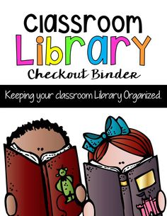 Classroom Library Checkout System Library Checkout System, Classroom Library Checkout, Class Library, School Classroom, Library Organization, Library Ideas, Third Grade, Fourth Grade, Page Dividers