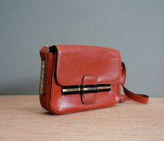 Vintage Fontana COGNAC Red Leather Shoulder Purse by heightofvintage, $40.00