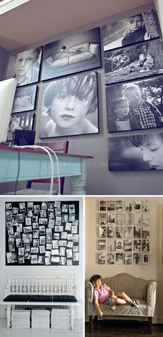 photowall, mur photos, pared fotos