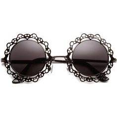 Charlotte Rose Cut Out Metal Sunglasses (46 BRL) ❤ liked on Polyvore featuring accessories, eyewear, sunglasses, glasses, fillers, round sunglasses, cut out sunglasses, rose glasses, hippy glasses and summer sunglasses