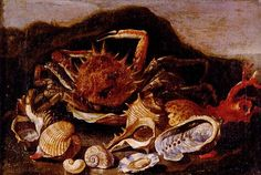 Still Life Of A Crab, Shells And Coral In A Landscape by Paolo Porpora - Canvas Art Print Canvas Art For Sale, Canvas Art Prints, Shell Game, Seashell Painting, A Level Art, Painting Still Life, Famous Artists, Crab Shells, Art Reproductions
