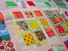 My Southern Quilts: Ernestine's Garden - Modified Nine Patch Quilt