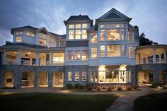 Mansions & More - Luxury Homes of The Newport Masterpiece House Plan with Sq Ft Bedroom House Plans, Dream House Plans, My Dream Home, Luxury House Plans, Huge Houses, Villa, Luxury Homes Dream Houses, Dream Homes, Dream Mansion