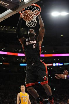 94d4fddac837 JANUARY 17  LeBron James  6 of the Miami Heat rises for a dunk Miami