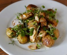 Moveable Feast Whelk and Yukon Gold Potatoes with Celery Salsa Verde and Ramp Mayonnaise