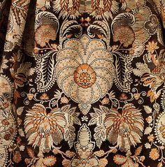 Dress Date: ca. 1725 Culture: British Medium: silk; fabric detail.