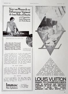 LOUIS VUITTON poster, French magazine ad, 1930 original poster, vintage advertising, Louis Vuitton retro ad, old illustration print by OldMag on Etsy