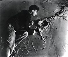 Roger Hayward sculpting moon model at Griffith Observatory, First Female Astronaut, Apollo 11 Mission, Griffith Observatory, Light Pollution, Moon Landing, Flat Earth, Technical Drawing, Photo Archive, Stargazing