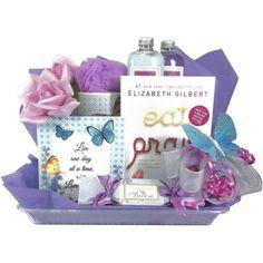 Spa+Gift+Baskets   Eat, Pray, Love Bath Gift Basket   MonsterMarketplace.com