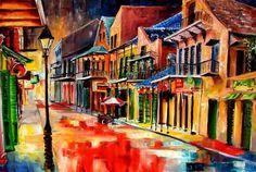 New Orleans Jive Painting  - New Orleans Jive Fine Art Print by Diane Millsap