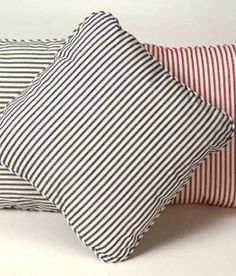 Ticking Stripes Corded Pillow for $29.50 from Country Curtains