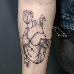 Surreal Heart Tattoo by Michele Volpi