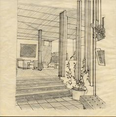 Hand drawing study of Villa Mairea by Alvar Aalto. Drawing Studies, Alvar Aalto, How To Draw Hands, Arch, Villa, Graphics, Drawings, Longbow, Graphic Design