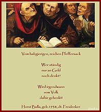 Bildgedicht Vom habgierigen, reichen Pfeffersack - Gedicht von Horst Bulla  - Gedichte - Zitate - Quotes - deutsch