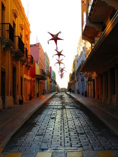 Colorful streets of Campeche, Mexico