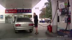The Best Funny Pics Compilation Woman at petrol stationhttp://omg-pictures.tumblr.com