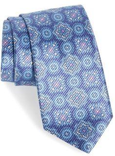 Men's David Donahue Medallion Silk Tie