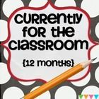 Many bloggers take part in my monthly CURRENTLY and now your students can too.  I have provided  enough CURRENLTY  templates for all 12 months.  Ea...