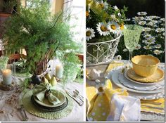 Spring or Easter table sets  - photo courtesy of Savannah Attics Facebook