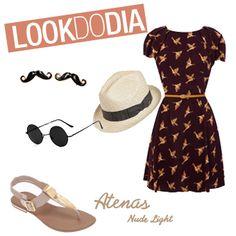 Verão é a época perfeita para abusar de vestidinhos estampados e acessórios liindos como chapéus e óculos de sol super diferentes! :) Que acharam do nosso Look do Dia, meninas?