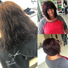 Gorgeous cut and colour done today (55/66)! Come get a free haircut when you receive a colour!!! #toniguyusa #toniguyportico #btcapproved #behindthechair #boise #meridian #idaho #idahome #love #aline #colour #color #cute #tigicolourcopyright