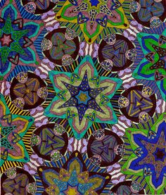 """Sea Star from our new """"art to color book"""".  Visit www.detailedcoloring.com for details."""