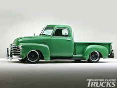 Chevy 3100. I'm not liking how low it is, I usually like it how it was but still, this was a great model. Chevy did a great job on this one.