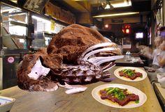 Beef Sashimi at Izakaya Presented with Entire Animal Carcass