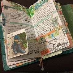 """Really love """"prepping"""" and completing my planner/journal pages, and I still love all the color of the Cocoa Daisy dori design!😊💞💖✨"""