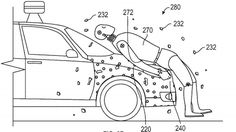 Adhesive technology on the front of a vehicle would aim to reduce the damage caused when a pedestrian hit by a car is flung into other vehicles or objects Letting People Go, Weird Inventions, Self Driving, Car Crash, Automobile, Safety, Trademark Office, Uk News, Cars