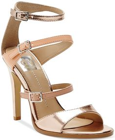 "Pin for Later: 21 Heels Under That Totally Say ""Party Time!"" DV by Dolce Vita Talin High Heel Sandals DV by Dolce Vita Talin High Heel Sandals Strappy Sandals, Women's Shoes Sandals, Heeled Sandals, Bridesmaid Shoes, Hot High Heels, Dolce Vita Shoes, Gold Heels, Me Too Shoes, Angels"