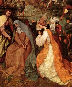 BRUEGEL, Pieter the Elder Christ Carrying the Cross détail