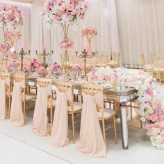 WedLuxe – InstaLove: #WedLuxeTrending Oyster Pink | @katminassievents Follow @WedLuxe for more wedding inspiration! #oysterpink #eventdecor #receptiondecor #florals