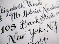 Hand-Drawn Addresses    Newest Project