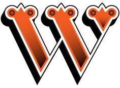 W / letters / orange / pretty