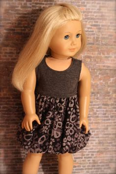 Trendy Gray and Black BUBBLE DRESS for American by Closet4Chloe, $14.00