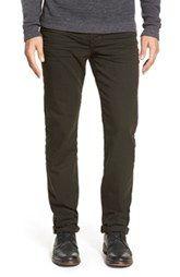 Joe's 'Brixton' Coated Slim Fit Jeans (Varnish Olive)