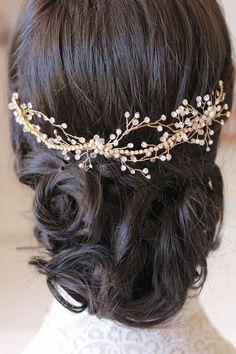 accessoires cheveux coiffure mariage chignon mariée bohème romantique retro, BIJOUX MARIAGE (88)