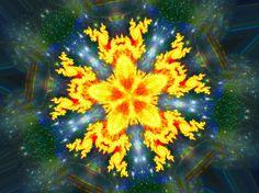 Fractal Kaleidoscope Flower