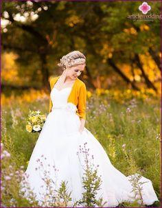 Varm og stilfuld billede af bruden: en top-11 ideer
