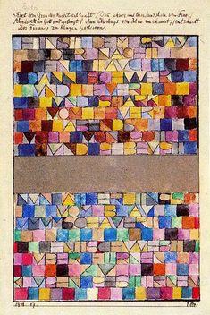 Einmal aus dem Grau der Nacht Hervorgegangen, wasserfarbe von Paul Klee (1879-1940, Switzerland)