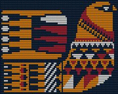 Çantalar Boho Tapestry, Tapestry Crochet, Crochet Birds, Bead Crochet, Bead Loom Patterns, Cross Stitch Patterns, Scandinavian Embroidery, Cross Stitch Collection, Needlepoint Designs